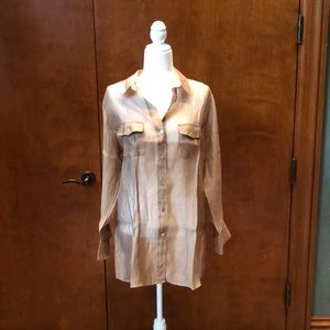 Chico's Sheer Copper Blouse